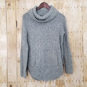 Cynthia Rowley Cowl Neck Chunky Knit Pullover (L)